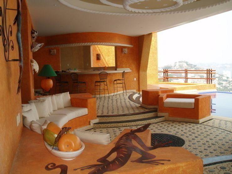Bar y estancia abierta ARQUELIGE Balcones y terrazas tropicales