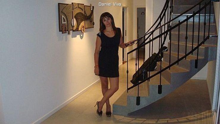 Murales minimalistas Murales Daniel Viva Pasillos, vestíbulos y escaleras minimalistas
