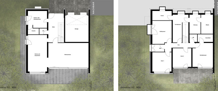Elegante Sachlichkeit – energetische Sanierung eines Einfamilienhauses mit Balkon insa4 ingenieure sachverständige architekten
