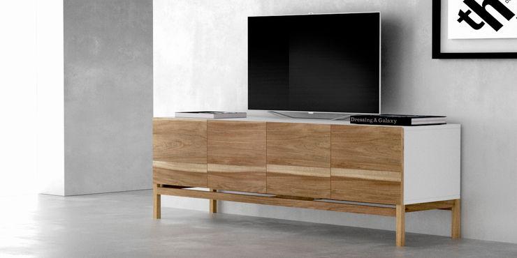 Muebles para TV Forma muebles LivingsMesas y soportes para TV y multimedia Madera maciza Blanco