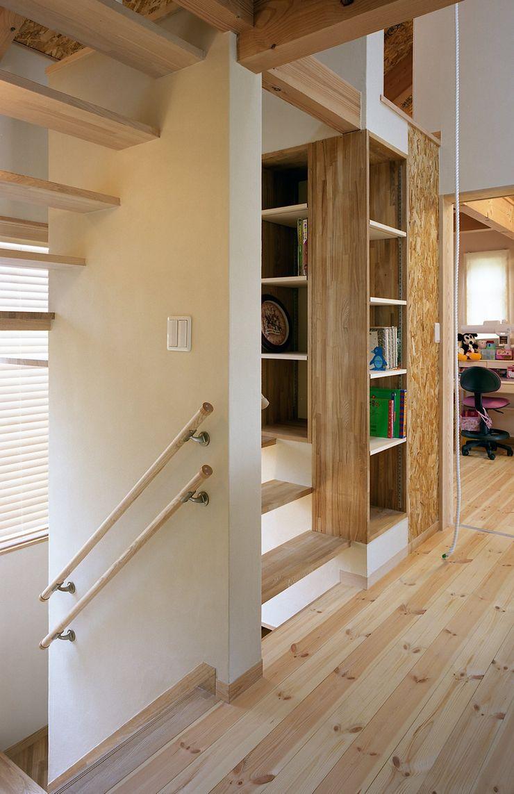 小栗建築設計室 Modern Corridor, Hallway and Staircase