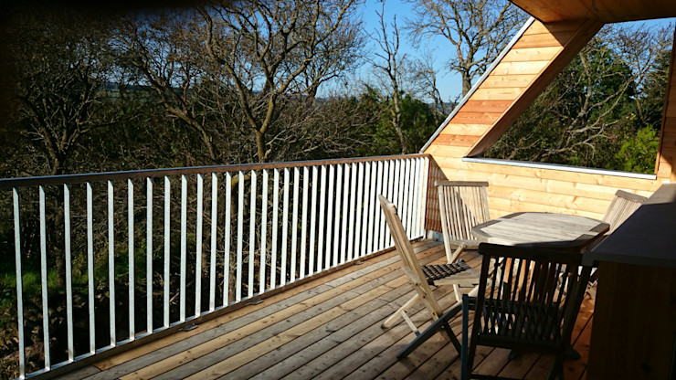 Symbios Architektur Modern Terrace Wood