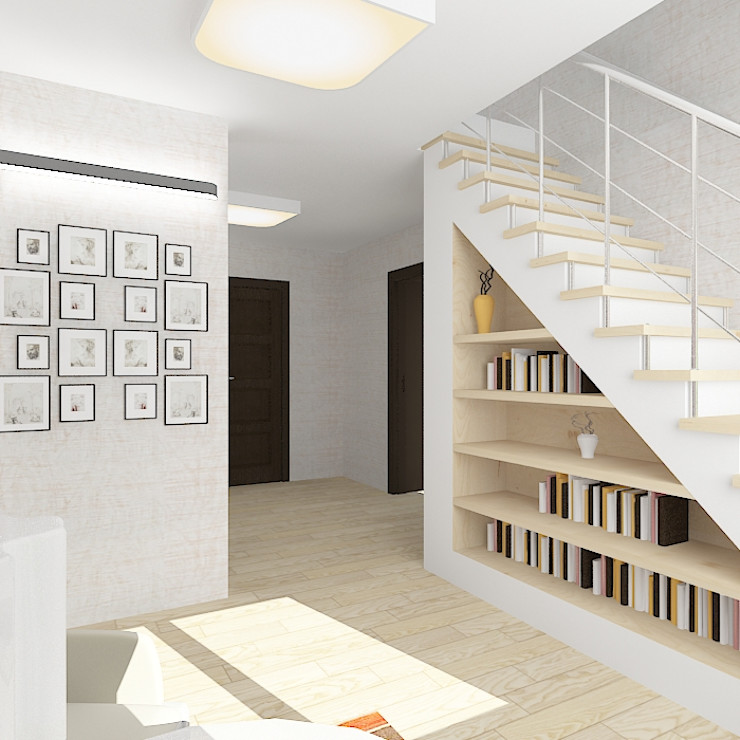 Design Rules Eclectic style corridor, hallway & stairs