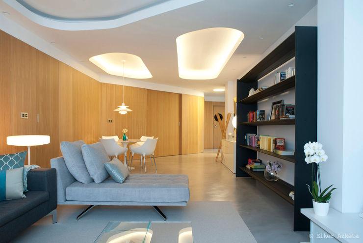 MADG Architect Стены и пол в стиле модерн