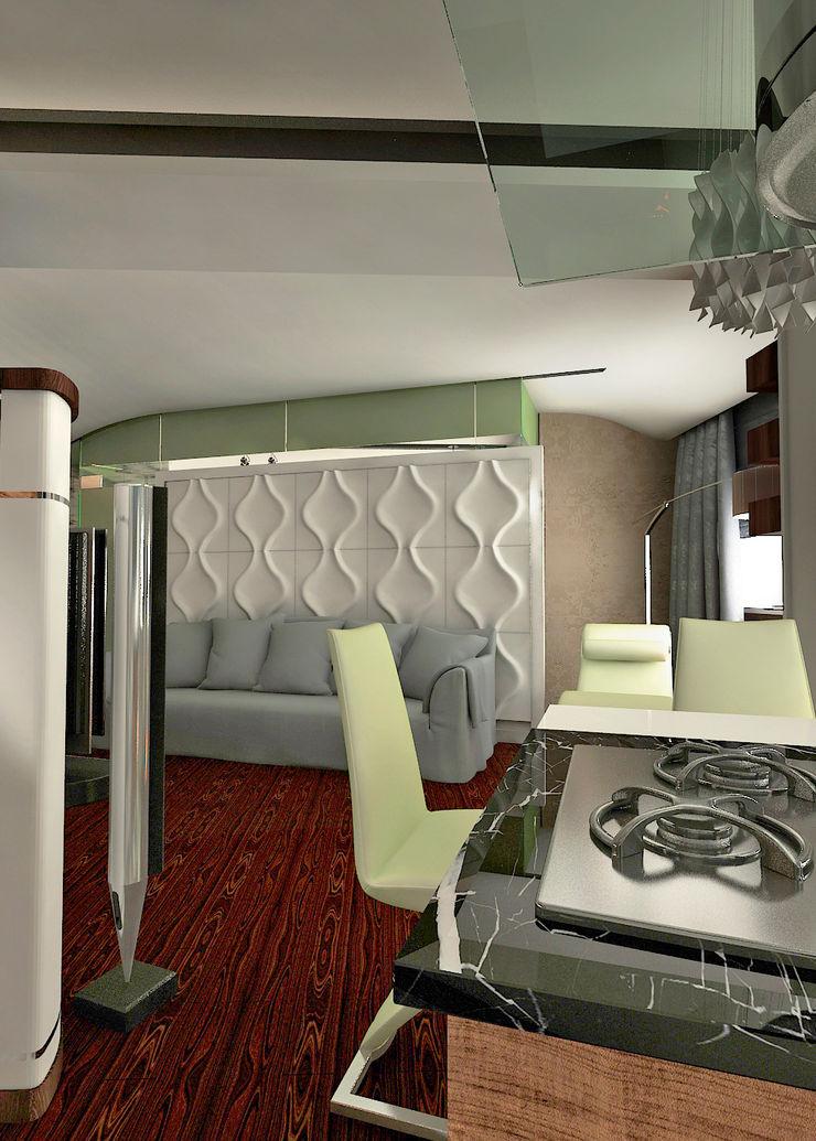 Частный архитектор, дизайнер Salas de estilo minimalista Blanco
