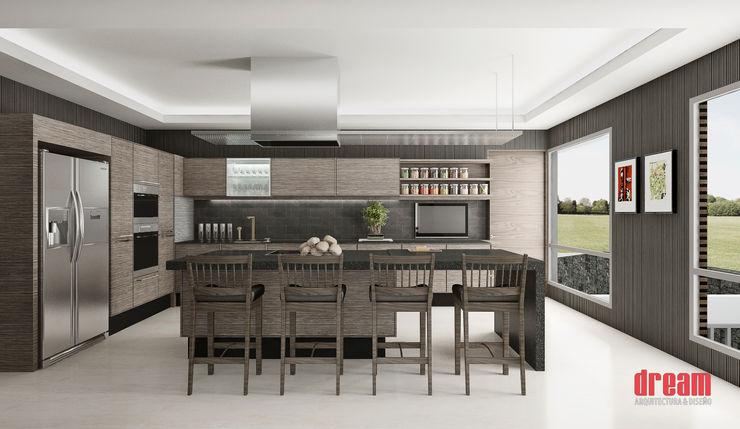 Estudio Meraki Modern Kitchen Wood effect