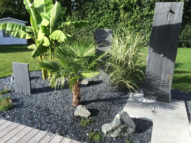 Schwein Aménagement Tropical style garden Stone Grey
