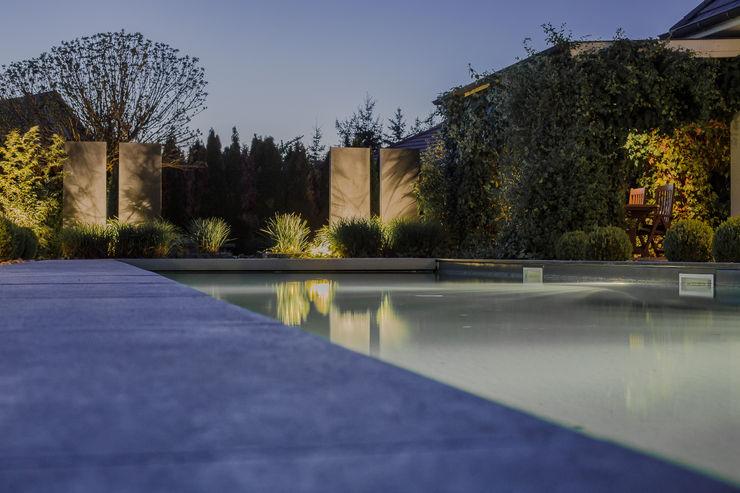 Jardin de nuit Art Bor Concept Piscine moderne