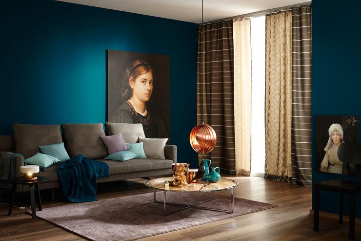 SCHÖNER WOHNEN-FARBE Salones de estilo moderno Azul