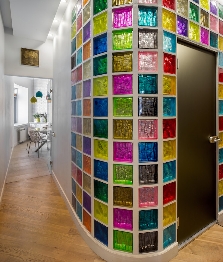 Дизайн-студия 'Вердиз' Industrial style corridor, hallway and stairs