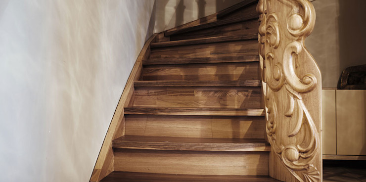Gül & Emin Timur Bilgece Tasarım Modern Koridor, Hol & Merdivenler