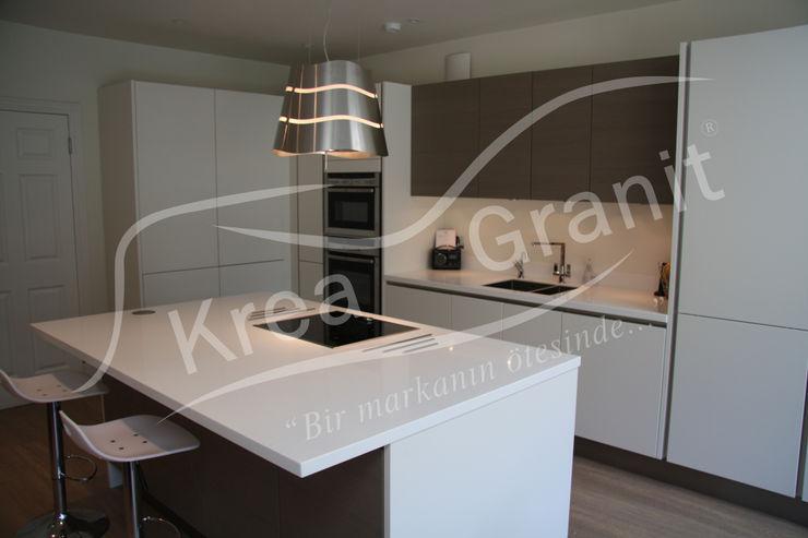 KREA Granit- Mutfak Banyo Tezgahları Кухня Білий