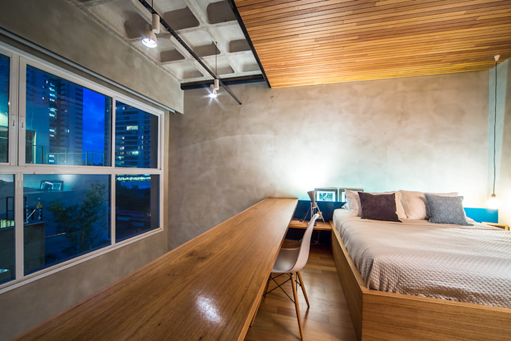 Casa100 Arquitetura Kamar Tidur Modern