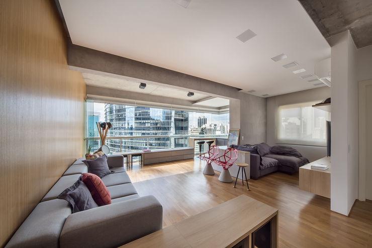 Casa100 Arquitetura Ruang Keluarga Modern