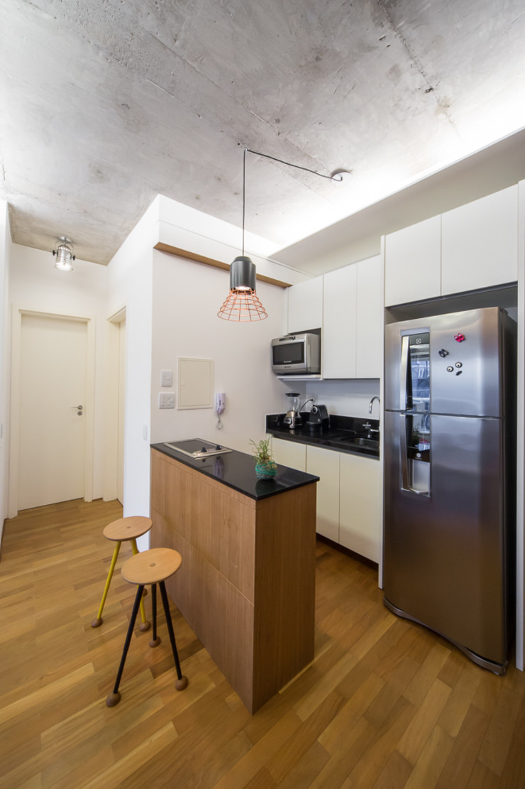Casa100 Arquitetura Dapur Modern