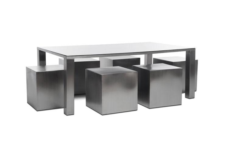 Etienne Design BahçeMobilyalar Metal Gri