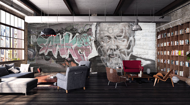 Creativespace Sartoria Murale Ściany i podłogiTapety Papier