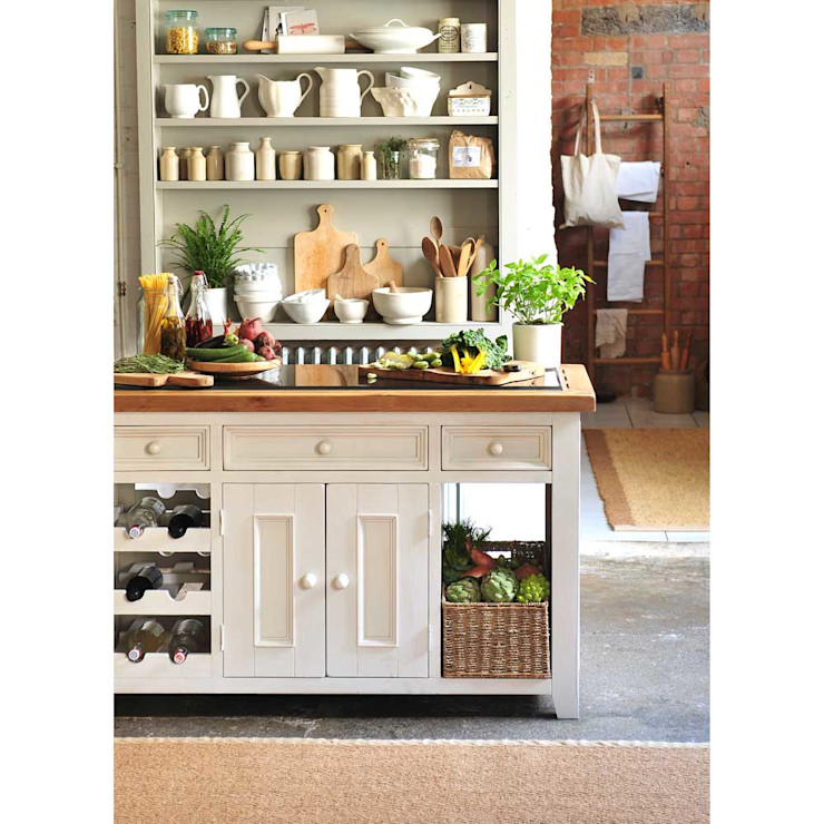 Marseille Distressed Granite Top Assembled Kitchen Island The Cotswold Company Kitchen لکڑی