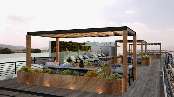 OK ARQUITECTURA Modern garden