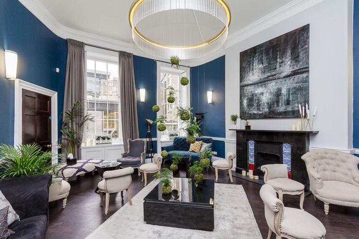 Chic Living Room homify Salones de estilo ecléctico Azul