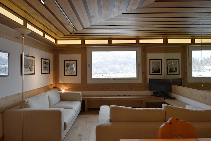 VITTORIO GARATTI ARCHITETTO Living room Wood