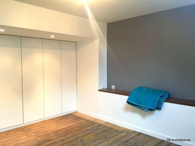 3B Architecture Phòng ngủ phong cách hiện đại Gỗ Grey