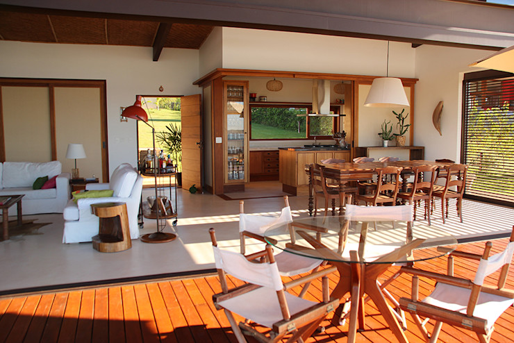 Ambienta Arquitetura Country style dining room