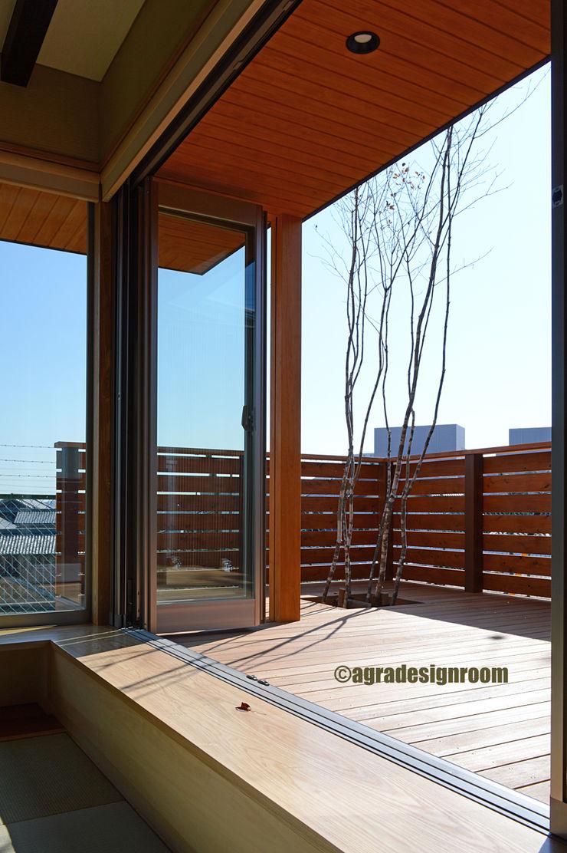窓辺の遊び アグラ設計室一級建築士事務所 agra design room モダンな 窓&ドア