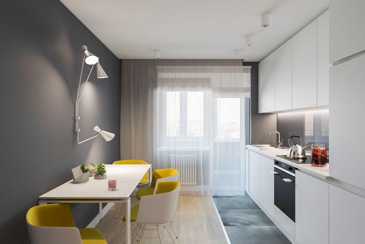 Алена Булатая Modern Study Room and Home Office