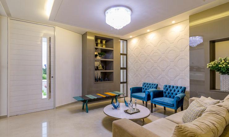 Residência A & F Lyssandro Silveira Living room Beige
