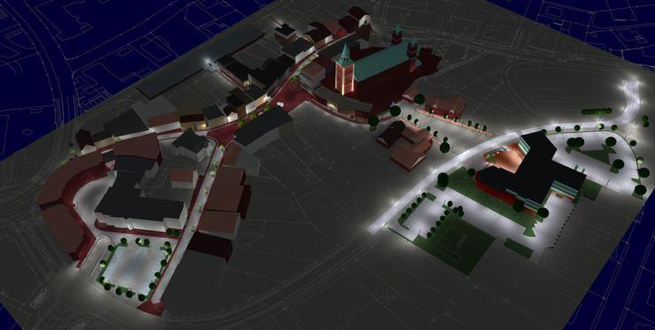 3D Modell der Lohner Innenstadt OC Lichtplanung