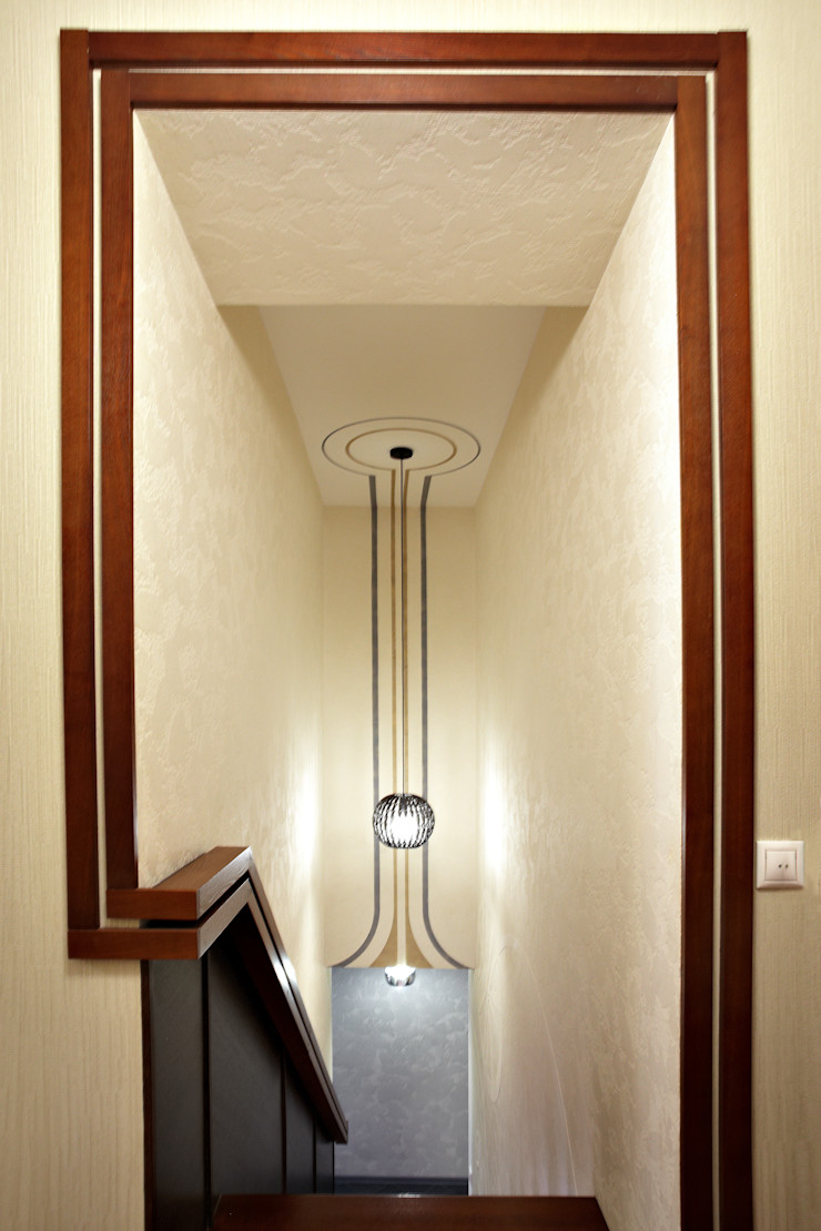 Галина Глебова Ingresso, Corridoio & Scale in stile minimalista