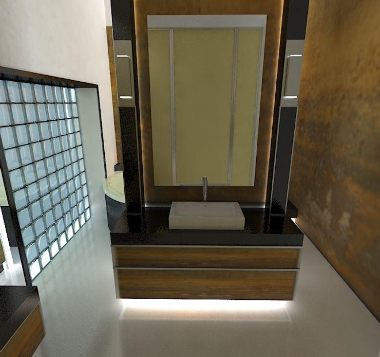 Галина Глебова Baños de estilo minimalista