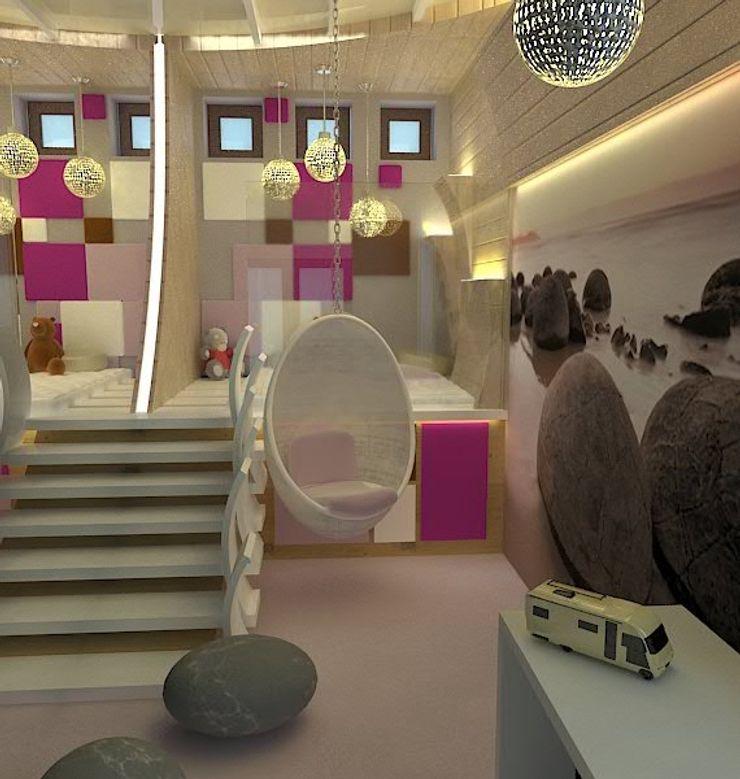 Галина Глебова Dormitorios infantiles de estilo minimalista