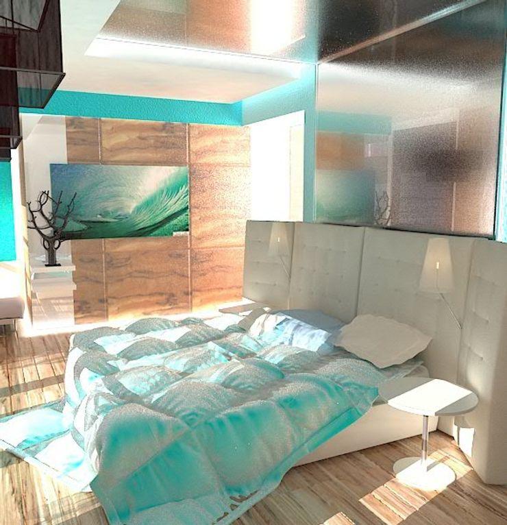 Галина Глебова Dormitorios de estilo minimalista