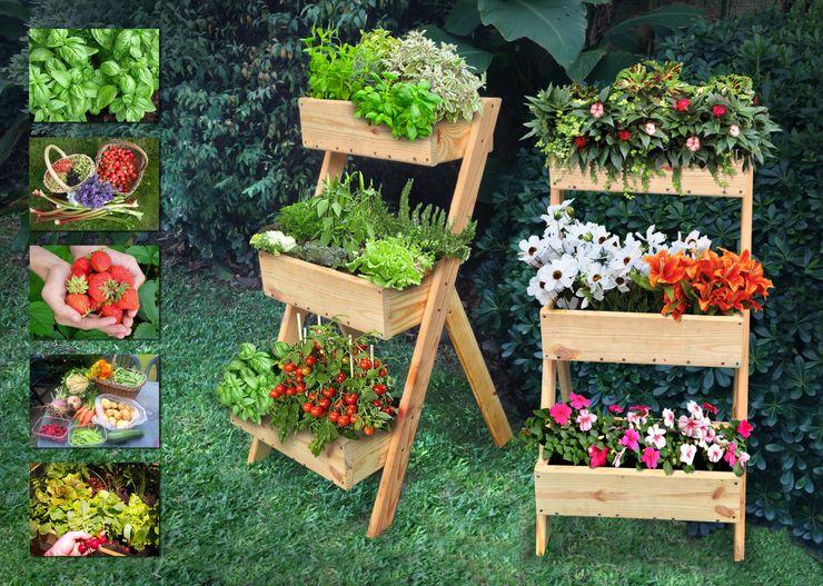 Mundo Garden Garden Plant pots & vases Solid Wood Wood effect