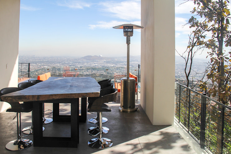 aaestudio Modern Balkon, Veranda & Teras