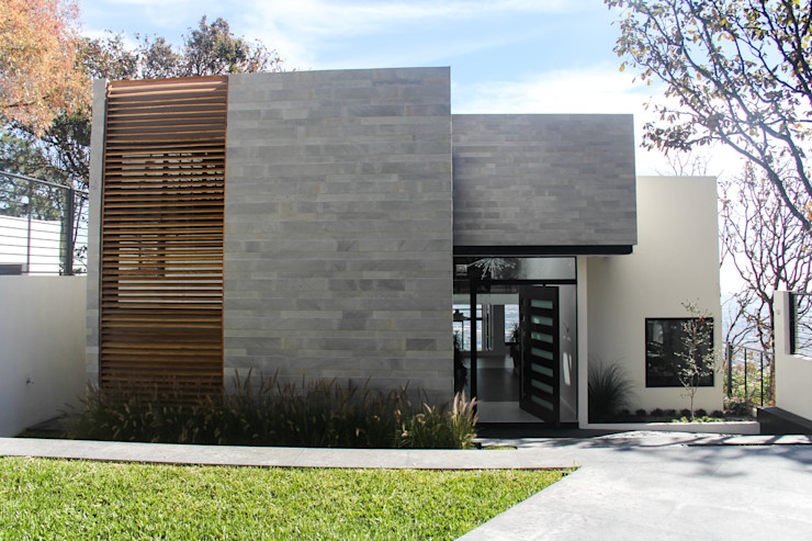 aaestudio Modern houses Stone Grey