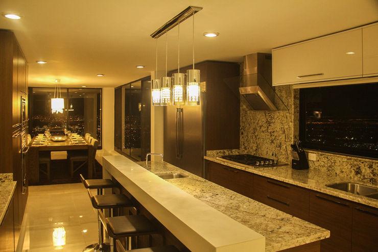 aaestudio Modern style kitchen Granite Grey