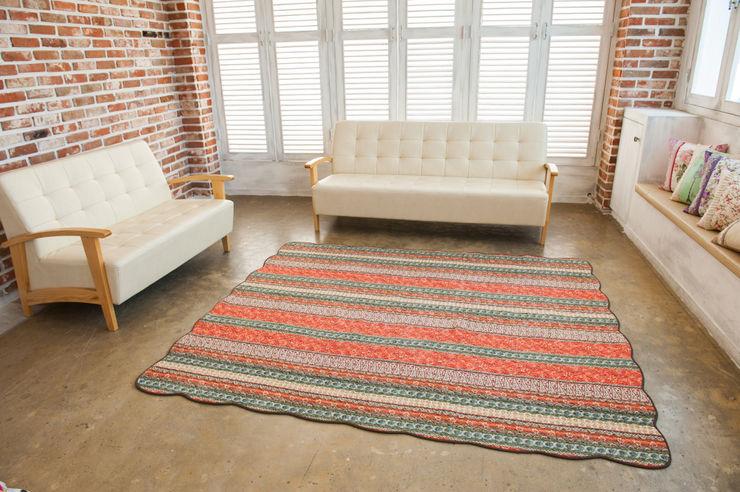 쉬즈가 Walls & flooringCarpets & rugs Cotton Orange
