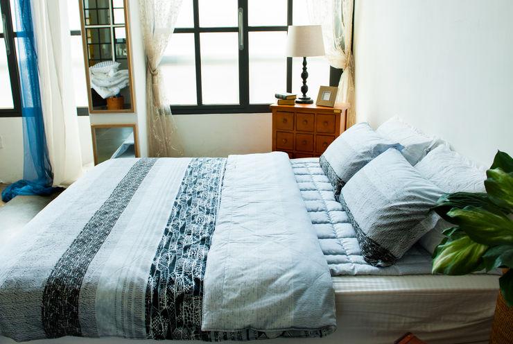 쉬즈가 BedroomTextiles Cotton Metallic/Silver