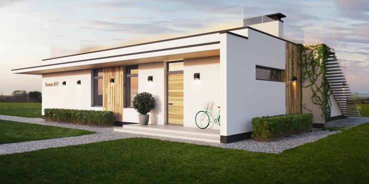 IK-architects Minimalist house Wood White