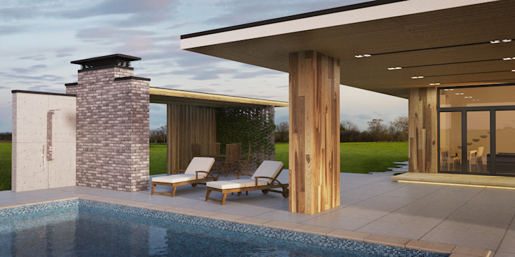 IK-architects Minimalist style garden