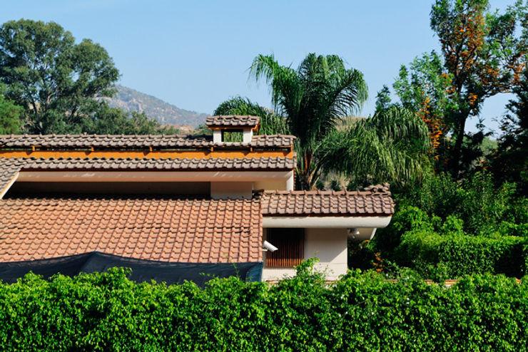 tejado Excelencia en Diseño Casas asiáticas Azulejos Marrón