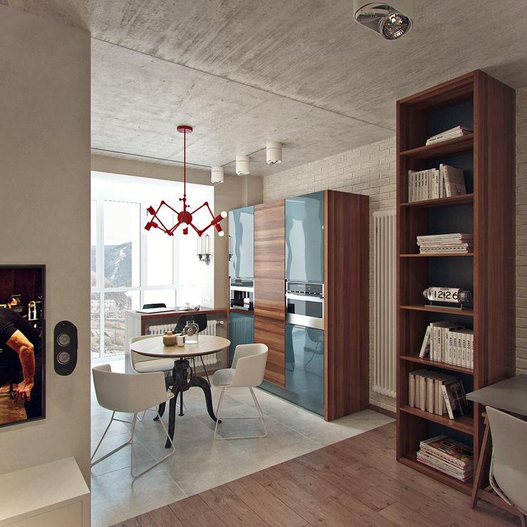 Студия дизайна Марии Губиной Industrial style kitchen