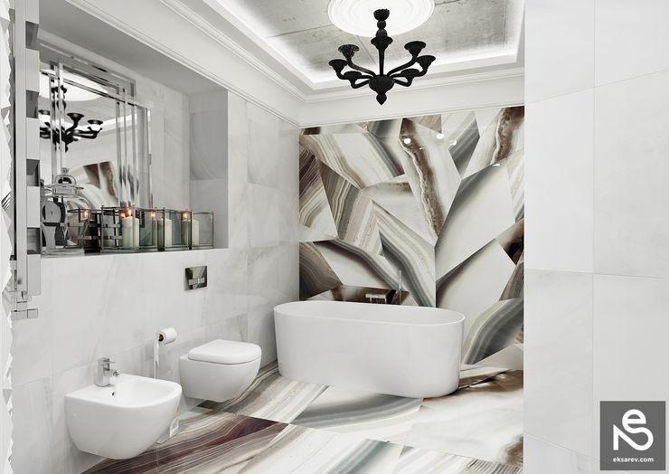homify Ванная комната в эклектичном стиле Плитка Белый