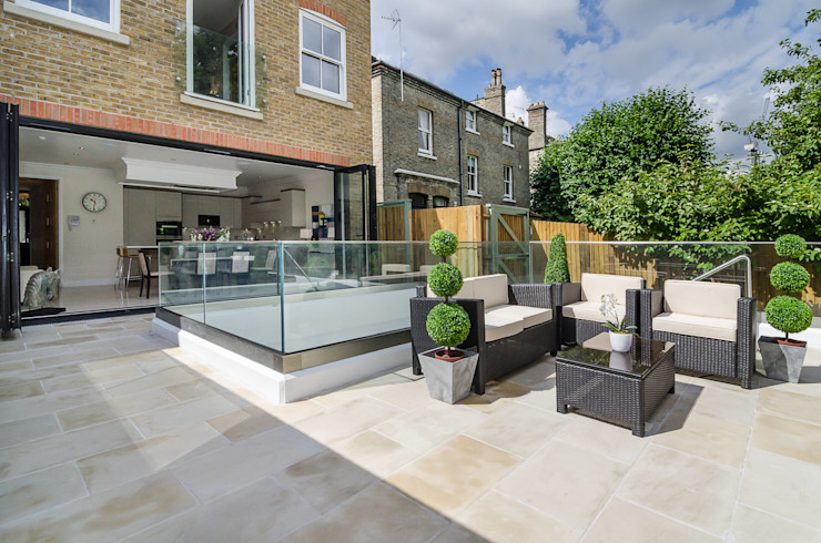 Oakhill Road, Putney Concept Eight Architects Moderner Balkon, Veranda & Terrasse