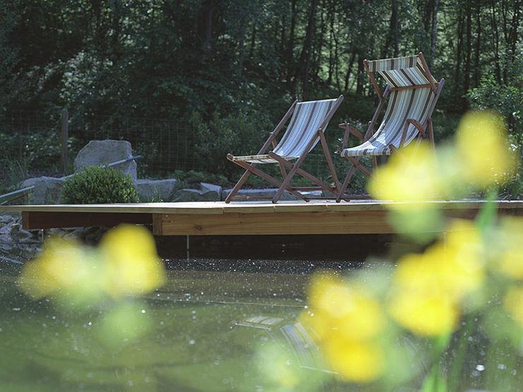 Garten mit Schwimmteich Kräftner Landschaftsarchitektur Moderne Pools