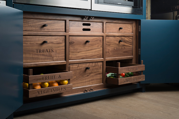W9 | Eclectic Industrialism Davonport Industrial style kitchen Wood Grey