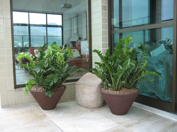 Junia Lobo Paisagismo Country style balcony, veranda & terrace